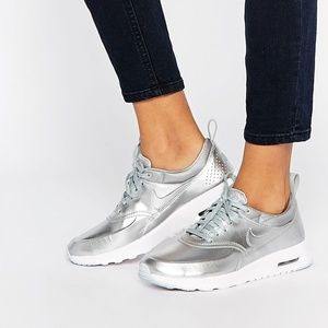 NIKE Women's Air Max Thea Metallic Silver